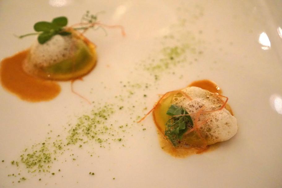 Tortelli di piselli, I Portici, Chef Agostino Iacobucci, Bologna