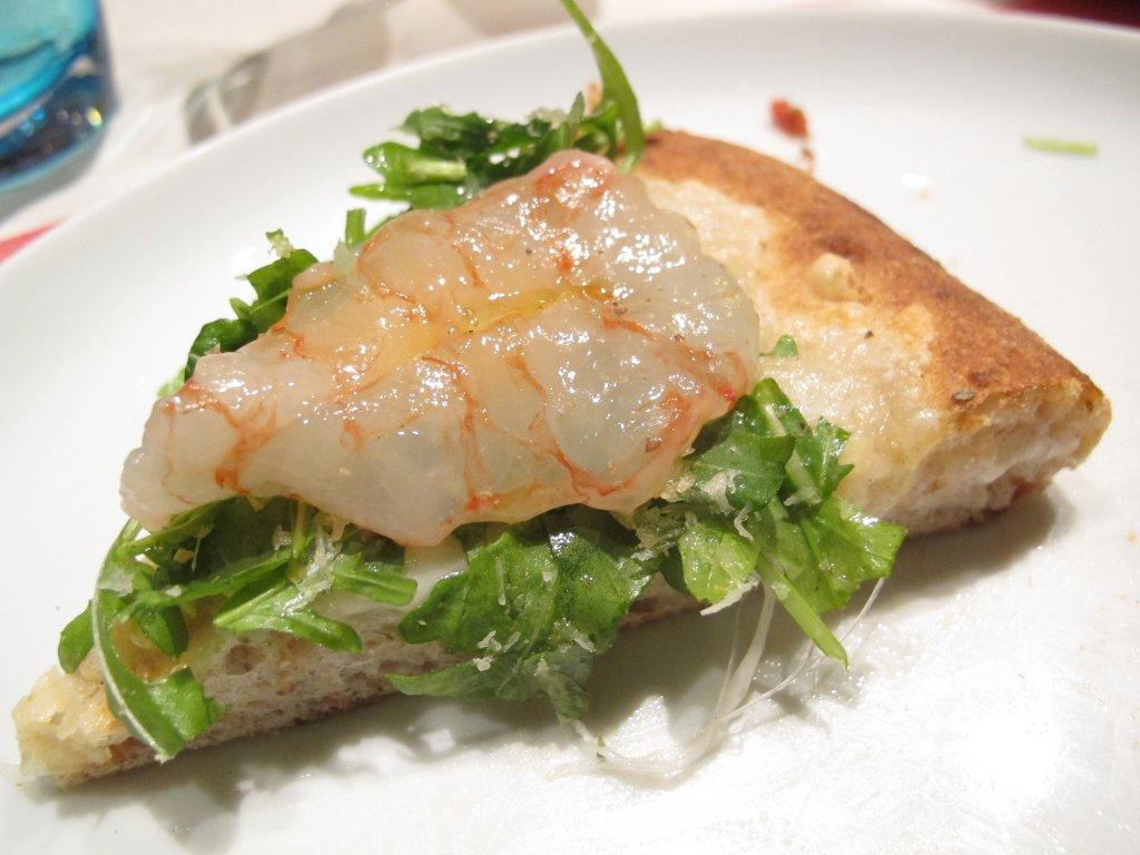Pizza sashimi di gambero, I Tigli, Simone Padoan, San Bonifacio