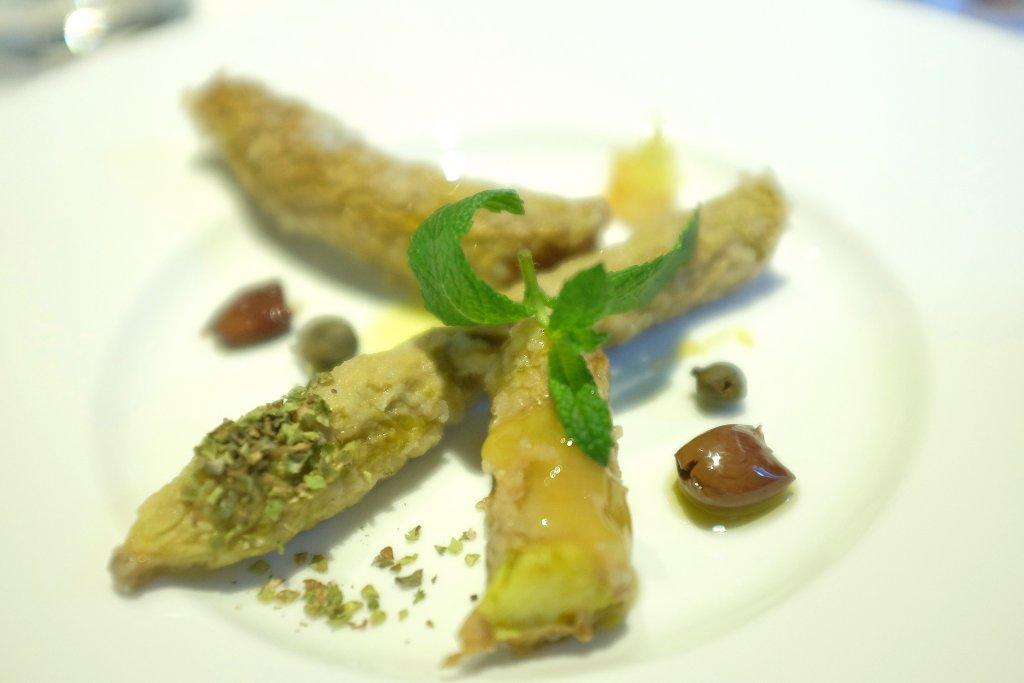 zucchine in scapece, Tre Cristi, Chef Paolo Lopriore, Milano