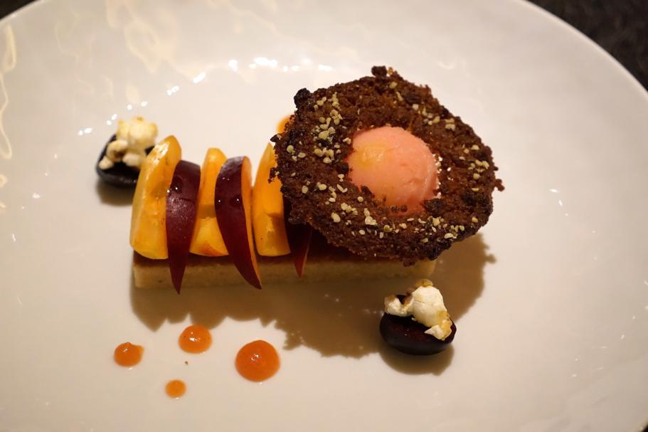 dessert, L'Chimpl, Chef Stefano Ghetta, Hotel Gran Mugon, Tamion ,Vigo di Fassa
