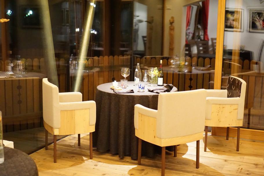 tavolo, L'Chimpl, Chef Stefano Ghetta, Hotel Gran Mugon, Tamion ,Vigo di Fassa