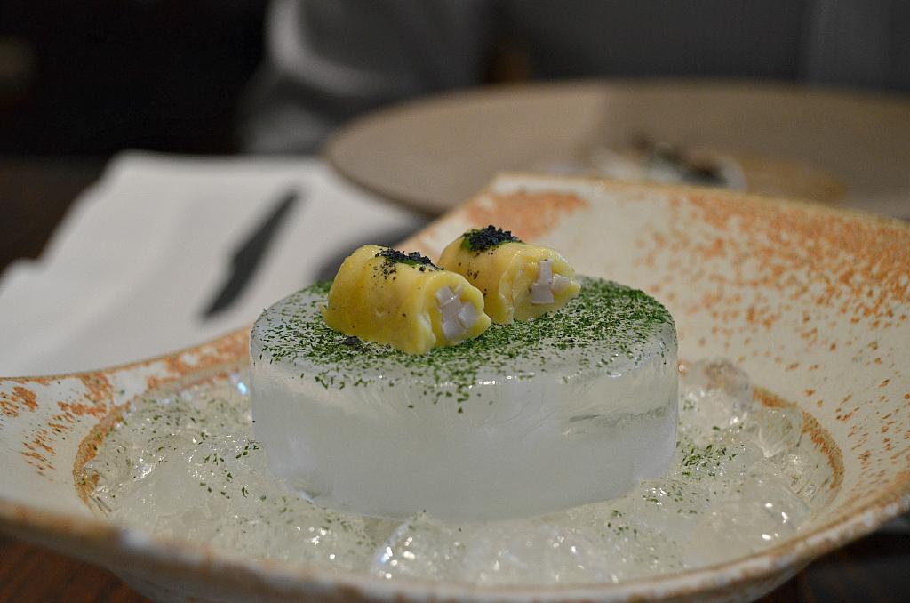 Calamaro e caju, D.O.M., Chef Alex Atala, Jardins São Paulo, Brasile