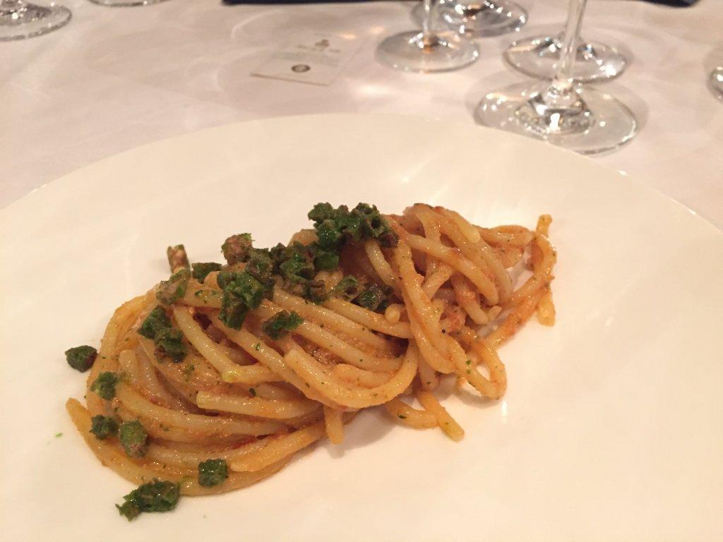Spaghettoni, uova di pesce spada, Derby Grill, Chef Fabio Silva Viale, Monza