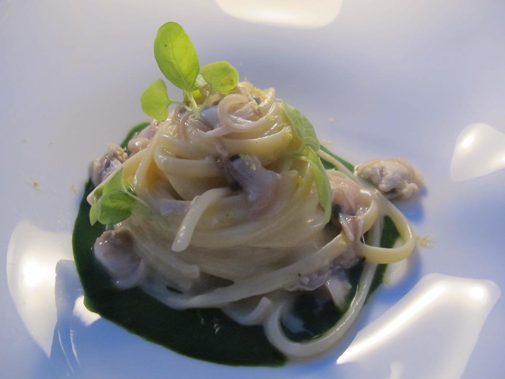 linguine tartufi di mare, La Magnolia, Chef Cristoforo Trapani, Forte dei Marmi