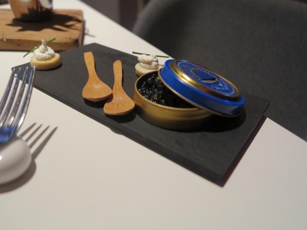 caviale, La Maniera di Carlo, Chef Francesco Germani, Milano