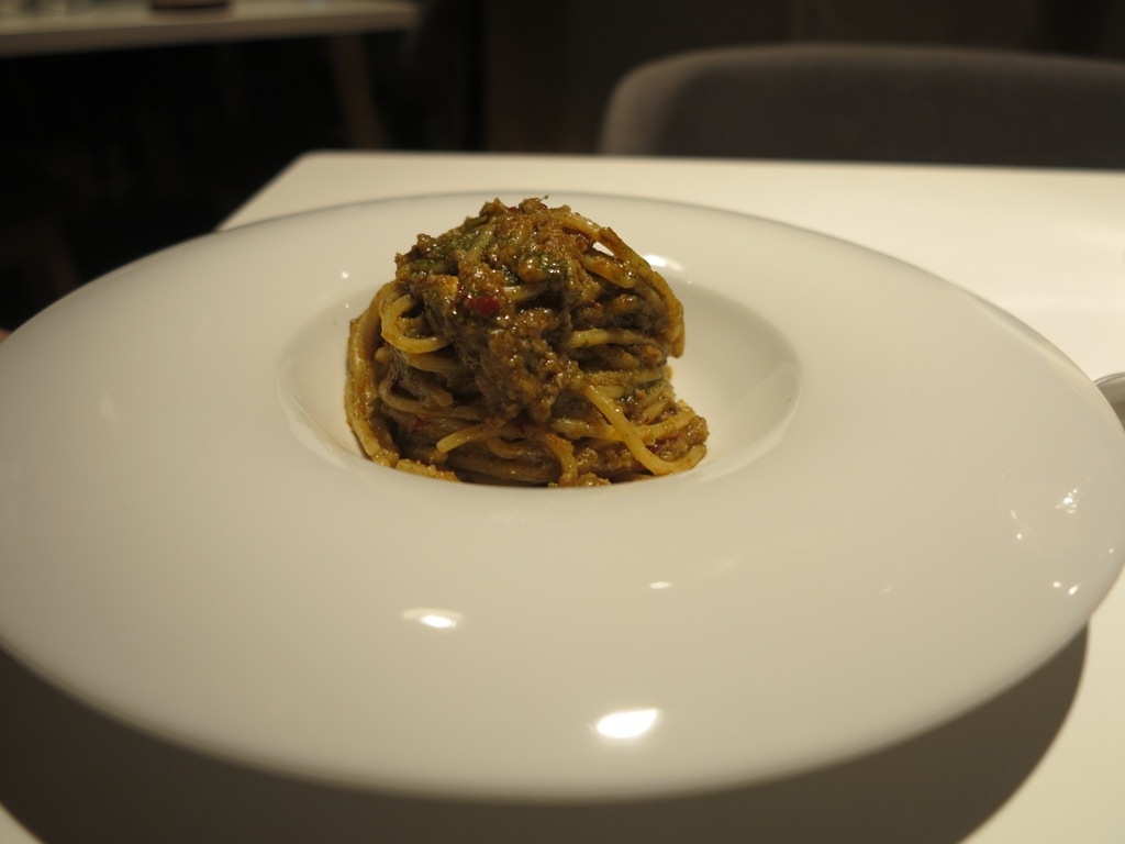 spaghettoni 'nduja, La Maniera di Carlo, Chef Francesco Germani, Milano