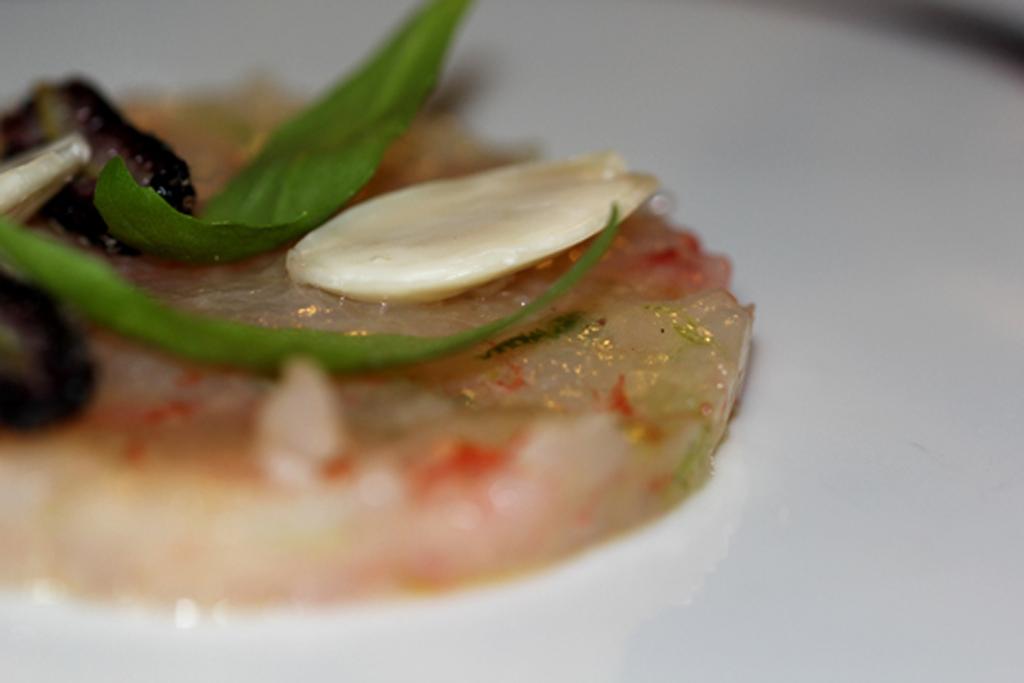 Gambero crudo, Antica Osteria Nonna Rosa, Chef Peppe Guida, Vico Equense