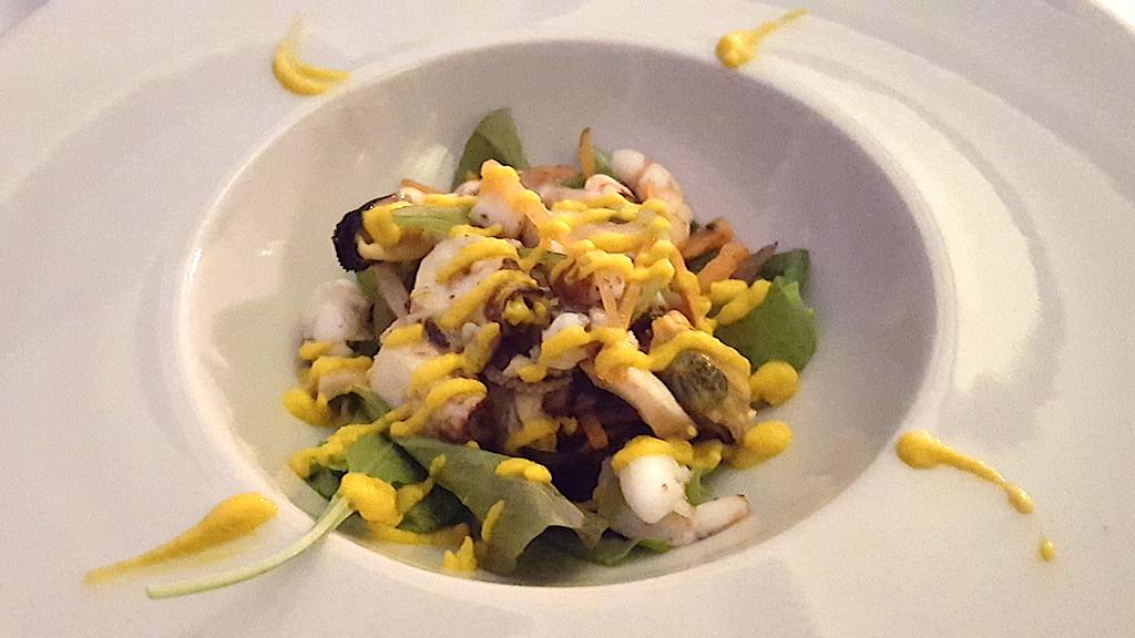 insalata del pescatore, Rosario all'Albos Club, Chef Rosario Malapena, Fregene, Roma