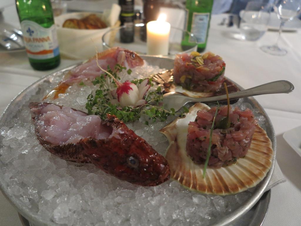 Carpazi e tartare, Da Tuccino, Chef Enzo Florio, Polignano A Mare