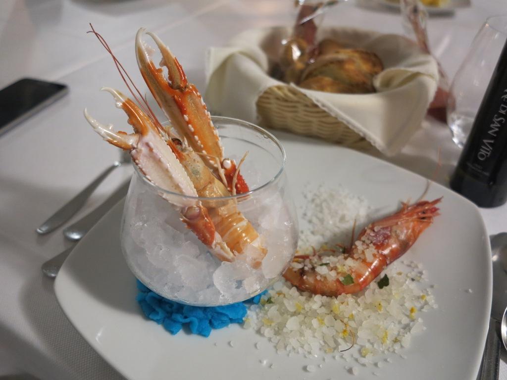 Scampo in ghiaccio, Da Tuccino, Chef Enzo Florio, Polignano A Mare