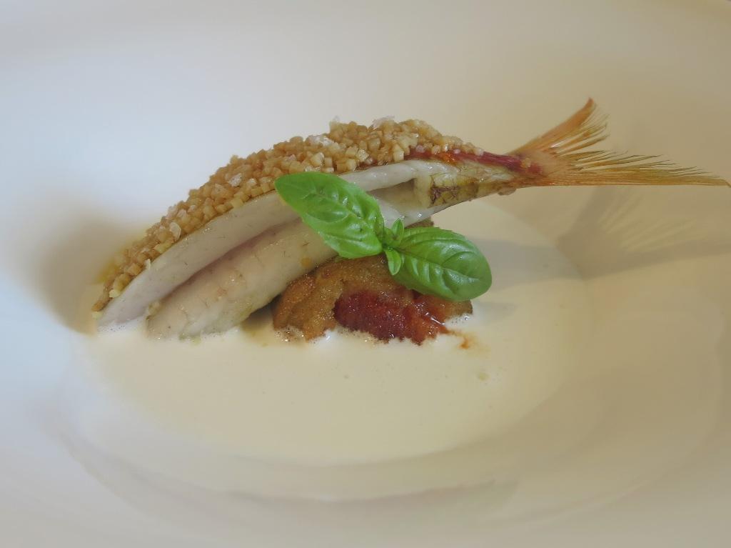 Triglia di melanzana, amuse bouche, Villa Crespi, Chef Antonino Cannavacciuolo, Orta San Giulio, Masterchef