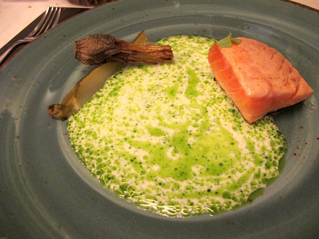 salmone marinato, Bistrot64, Chef Noda Kotaro, Roma