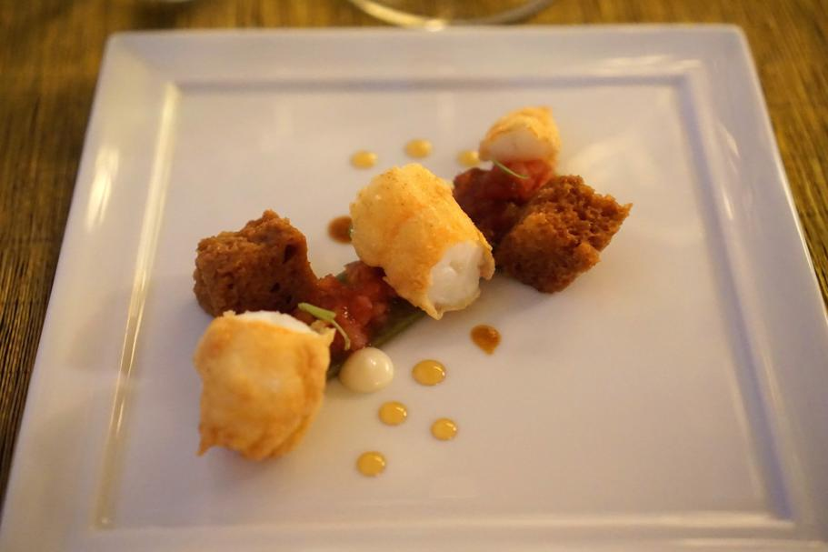 scampi alla busara, Dopolavoro Dining Room, Chef Federico Belluco, Giancarlo Perbellini, Isola delle Rose, Venezia