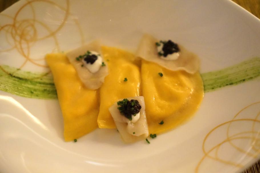 mezze lune, Dopolavoro Dining Room, Chef Federico Belluco, Giancarlo Perbellini, Isola delle Rose, Venezia