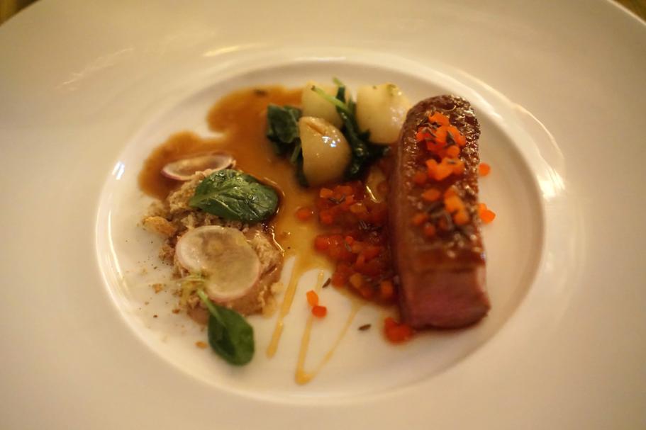 Petto d'anatra, Dopolavoro Dining Room, Chef Federico Belluco, Giancarlo Perbellini, Isola delle Rose, Venezia