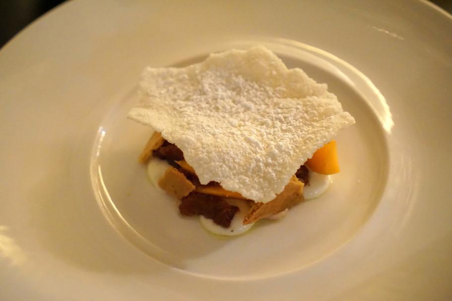 Crema di riso al latte, Dopolavoro Dining Room, Chef Federico Belluco, Giancarlo Perbellini, Isola delle Rose, Venezia