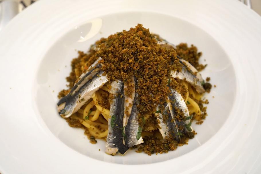 pasta con le sarde, I Banchi, Chef Giuseppe Cannistrà, Ciccio Sultano, Ragusa Ibla