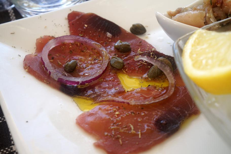 tonno marinato, Trattoria da Carmelo, Marina di Ragusa