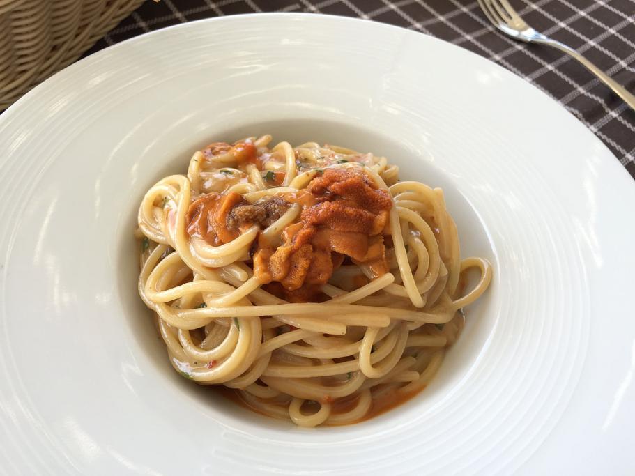 spaghetti ai ricci di mare, Trattoria da Carmelo, Marina di Ragusa