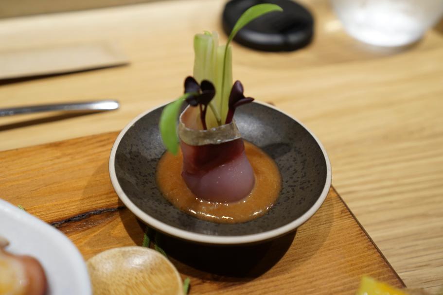 suggello con cetriolo, Pakta, Chef Albert Adrià, Kyoko li, Jorge Muñoz, Barcellona