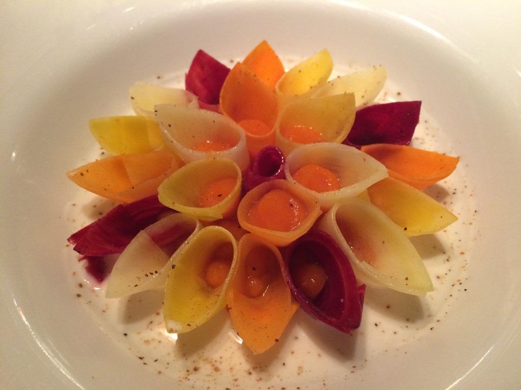 carote, yogurt, Anne-Sophie Pic Restaurant, Valence, Francia