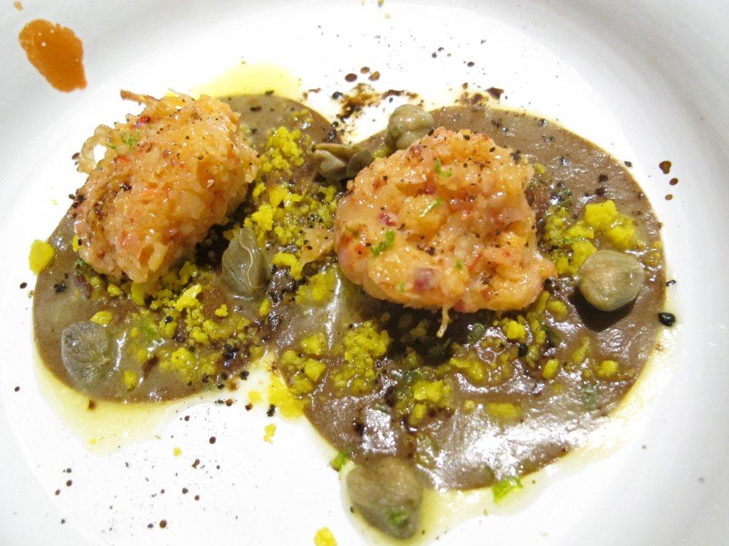 raviolo, Aqua Crua, Chef Giuliano Baldessari, Barbarano Vicentino