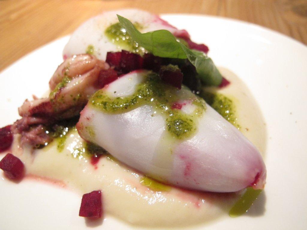 calamari farciti, Esco Bistrò Mediterraneo, Chef Francesco Passalacqua, Milano