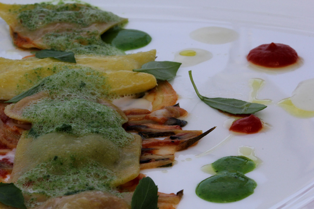 ravioli, JKitchen, JK Place, Chef Edoardo Estatico, Capri