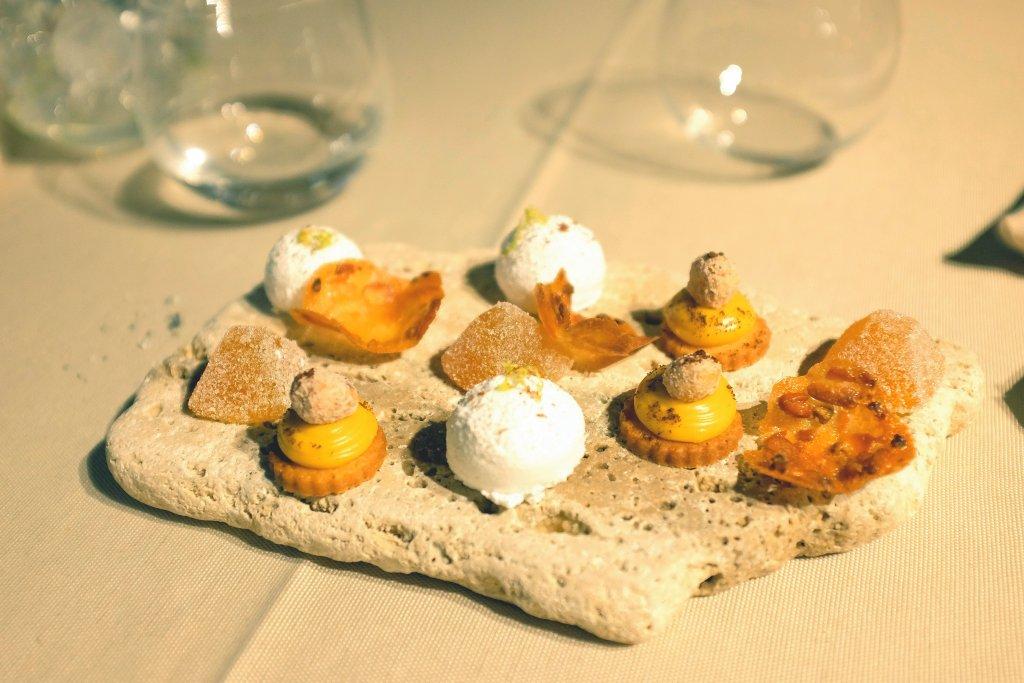 piccola pasticceria, Le Giare, Chef Gianluca Gorini, Montiano, Forlì-Cesena