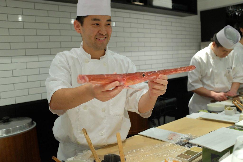 red cornet fish, Sushi Nakazawa, Daisuke Nakazawa, New York