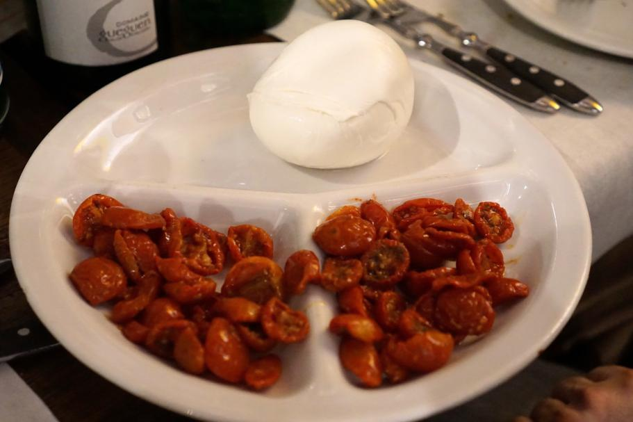 mozzarella di bufala, Roscioli, Chef Nabil Hadj Hassen, Roma