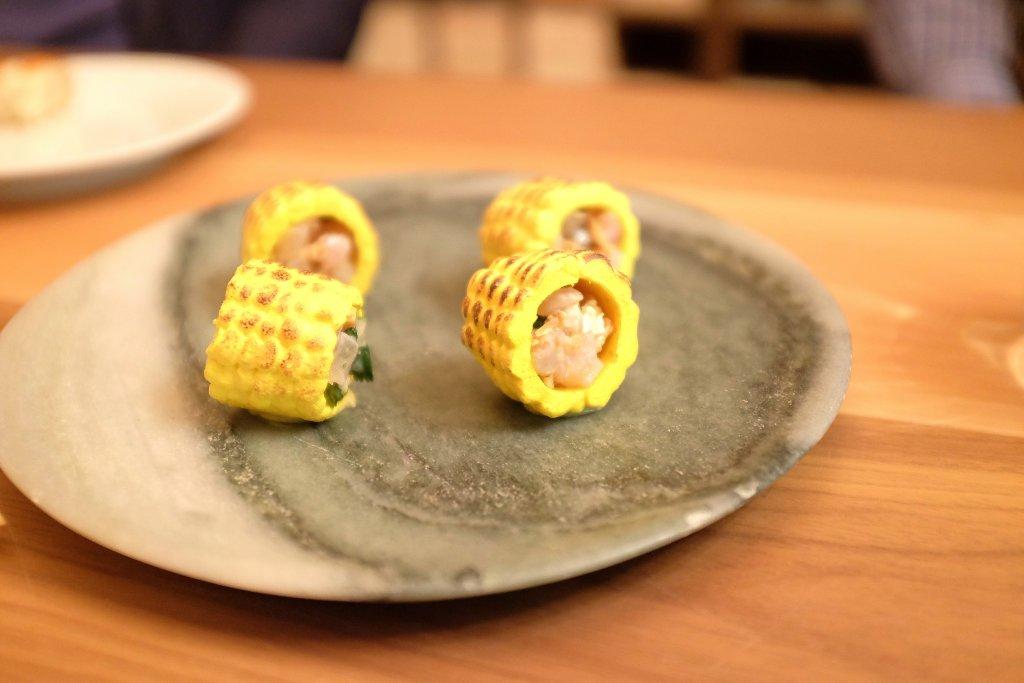 ceviche in pannocchia, Osteria Francescana, Chef Massimo Bottura, Modena