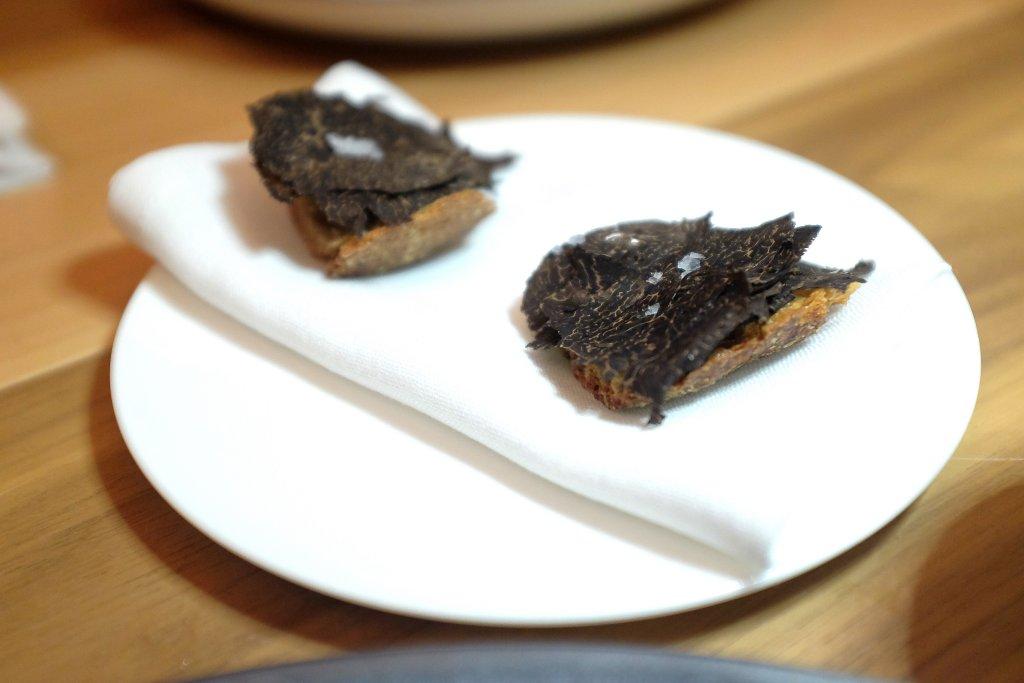 crostino, Osteria Francescana, Chef Massimo Bottura, Modena