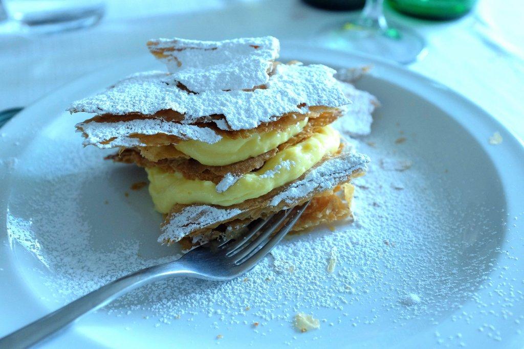 millefoglie alla crema, Campo delle Stelle, Chef Giovanni Re, Vanzago, Milano