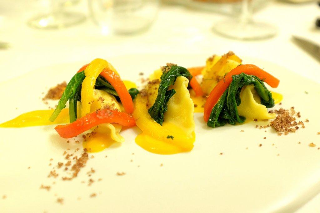 ravioli di baccalà, Ristorante Tocco, Hotel Montreal, Chef Dario Di Liberto, Ragusa