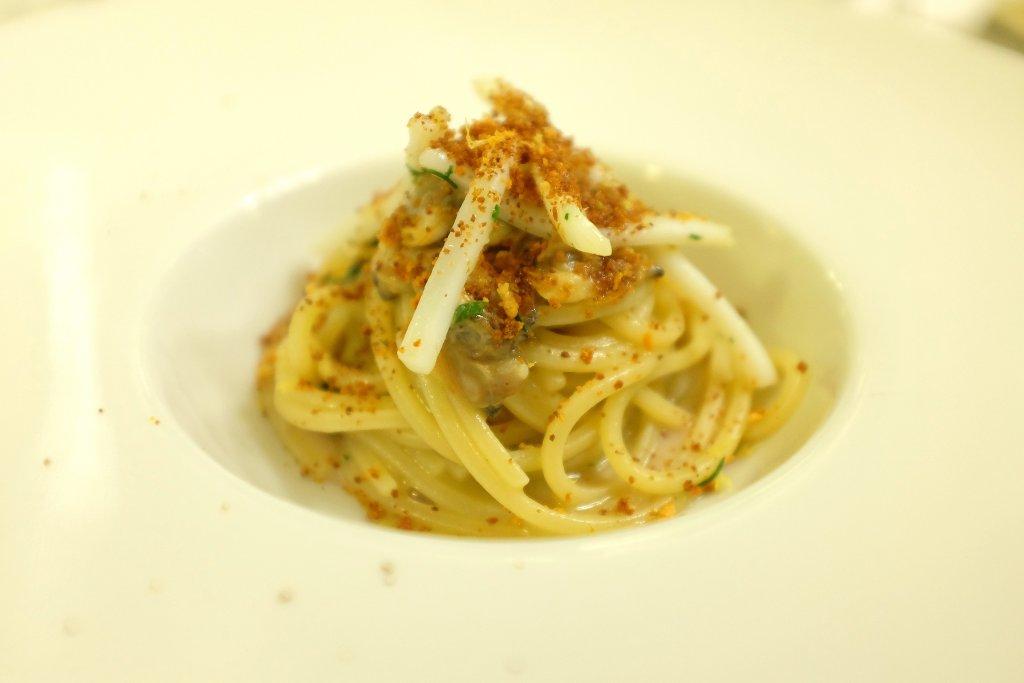 spaghetti ai frutti di mare, Ristorante Tocco, Hotel Montreal, Chef Dario Di Liberto, Ragusa