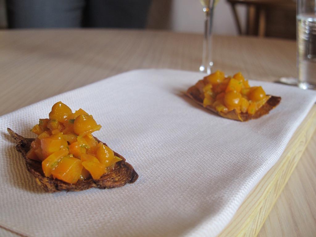 carota in carpione, Aga, Chef Oliver Piras, Alessandra del Favero, San Vito di Cadore