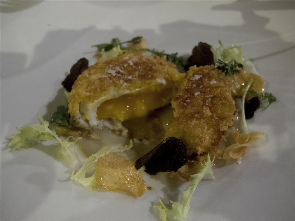 uovo fritto, Il Merlo, Chef Angelo Torcigliani, Camaiore