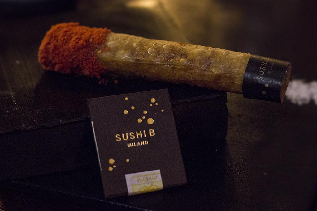 sigaro di pasta fillo, Sushi B, Nobuya Niimori, Brera, Milano