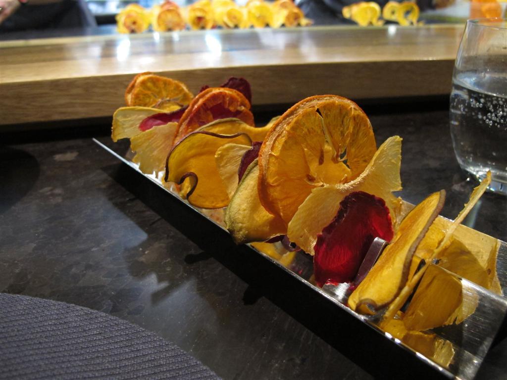 frutta disidrata, Ristorante Del Cambio, Chef Matteo Baronetto, Torino
