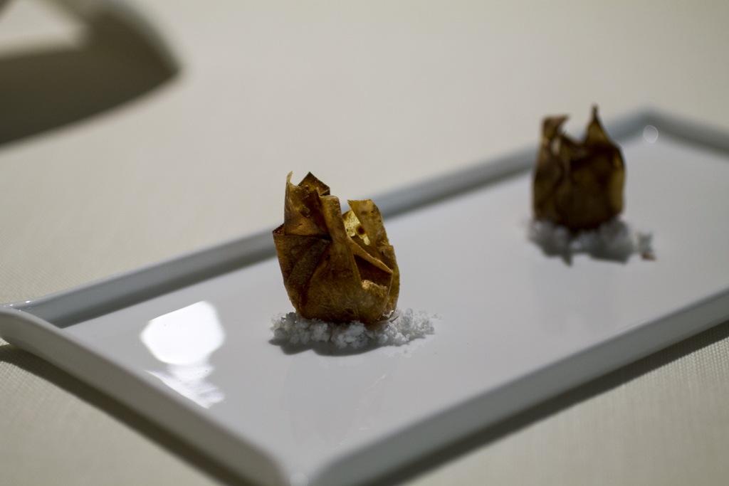 Fagotto di cipolla e foie gras, Chef Enrico Bartolini, MUDEC, Milano