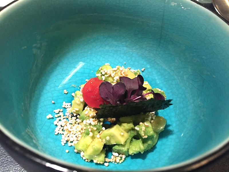 Avocado, miso, yuzu, Glass Hostaria, Chef Cristina Bowerman, Roma
