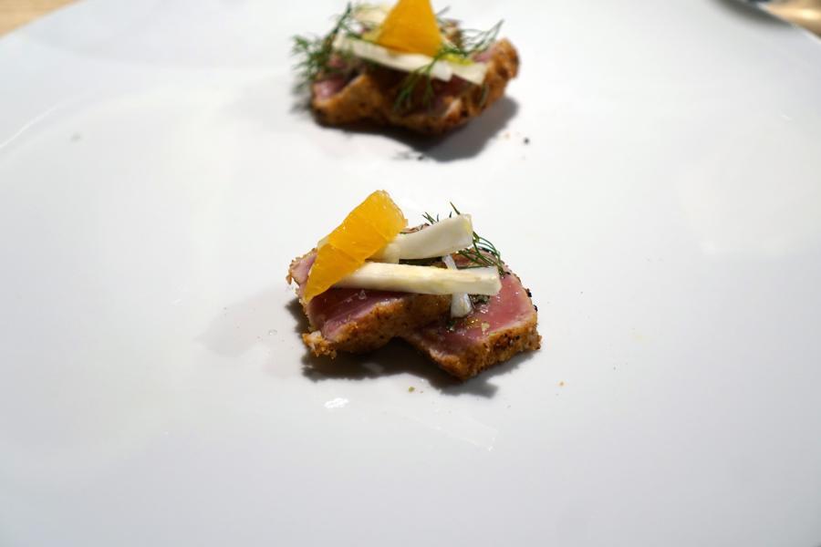 Tonno, Il Grano di Pepe, Chef Rino Duca, Ravarino, Modena