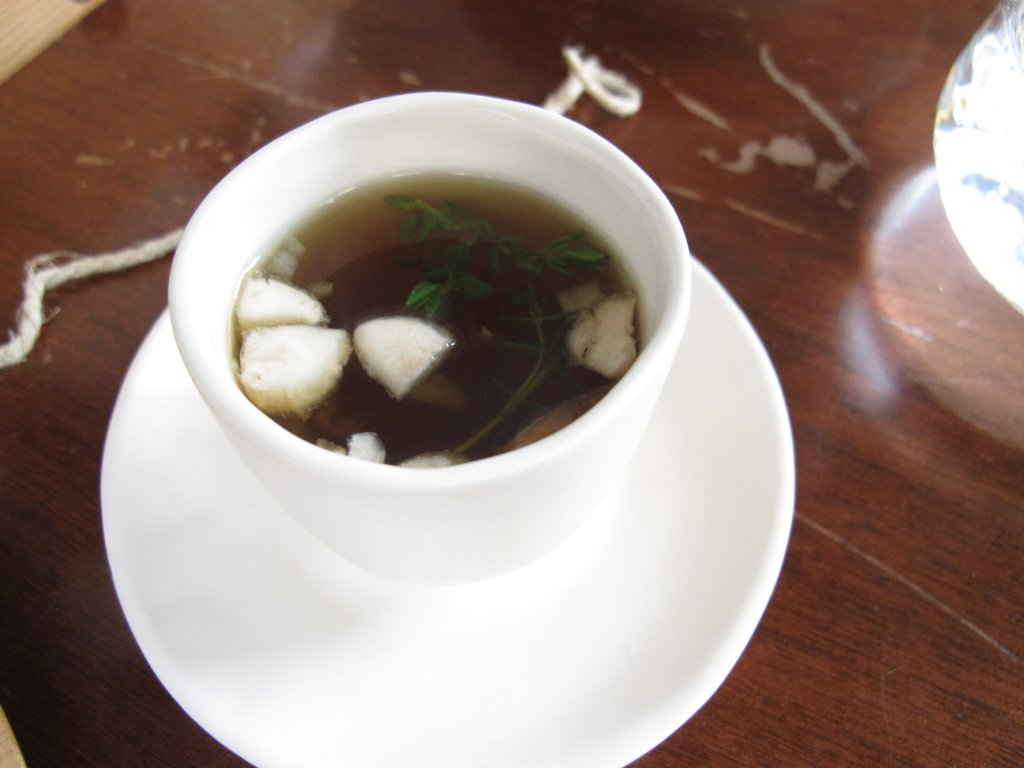 consommé, The Market Place, Chef Davide Maci, Como
