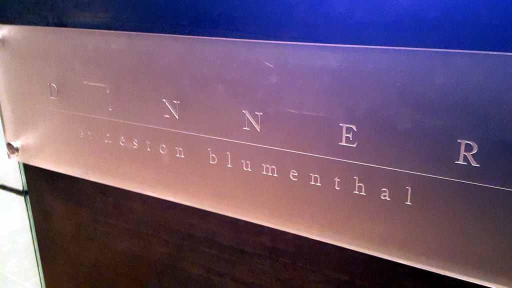 l'insegna del ristorante, Heston Blumenthal, London