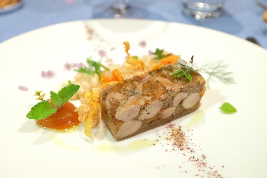 terrina di pollame, Locanda Barbarossa, Chef Othmar Schlegel, Ascona, Svizzera