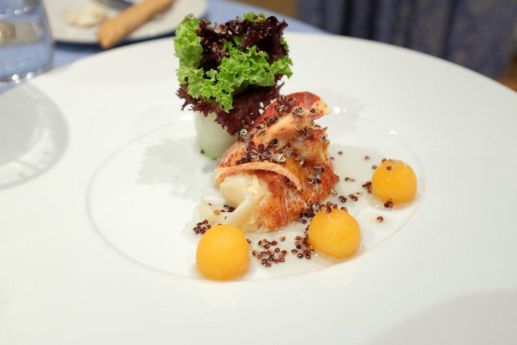 Astice in insalata, Locanda Barbarossa, Chef Othmar Schlegel, Ascona, Svizzera