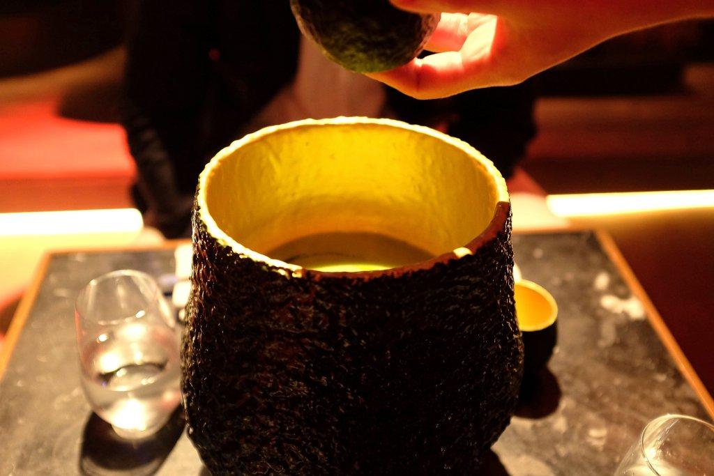 zuppa di avocado, Heart Ibiza, Chef Fernand e Albert Adrià, Spain