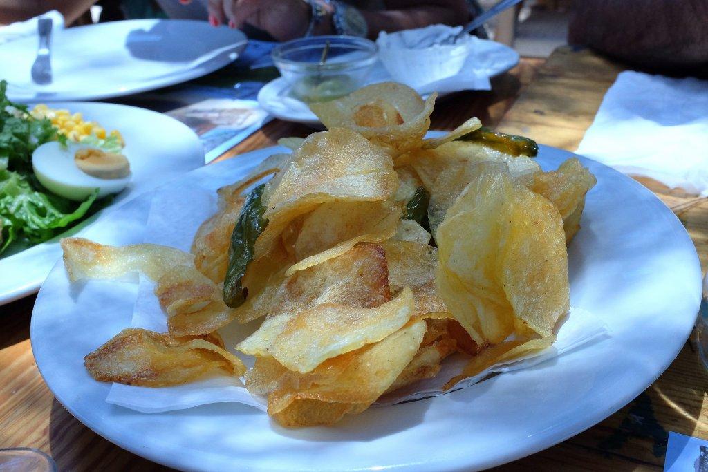 patatine fritte, Ses Boques,Ibiza, Es Cubelles, Spagna