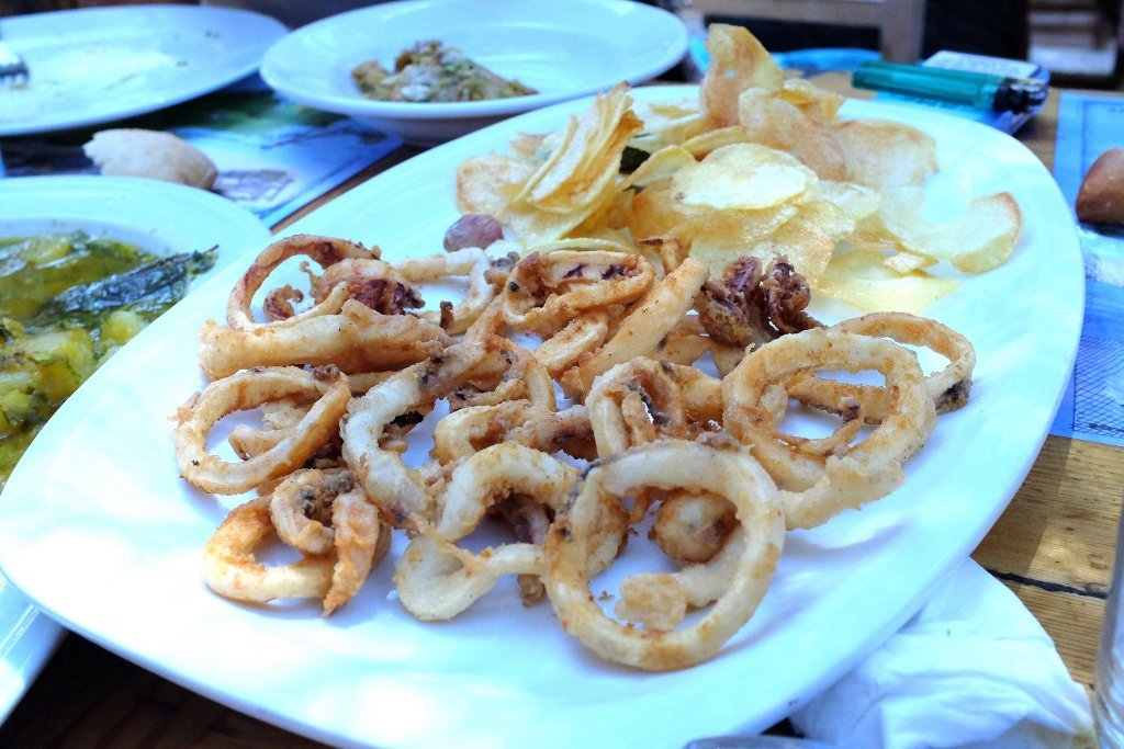 fritto, Ses Boques,Ibiza, Es Cubelles, Spagna